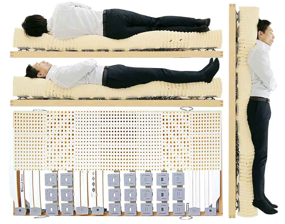 腰痛持ちにお薦めできる腰痛に良いウッドスプリングベッドとラテックスマットレス 腰を支えるウッドスプリングベッドと腰痛に良いラテックスマットレスの試し寝体験できます